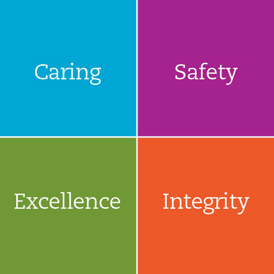 caring. safety. excellence. integrity.