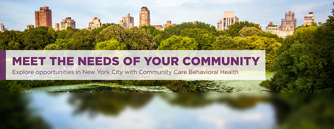 UPMC Community Care Behavioral Health New York City Banner