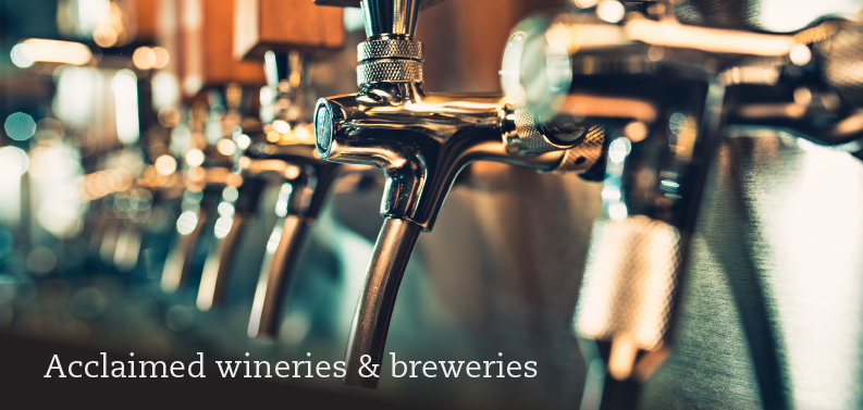 Acclaimed wineries & breweries