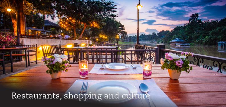 Restaurants, shopping, and culture