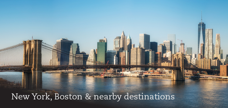 New York, Boston & nearby destinations