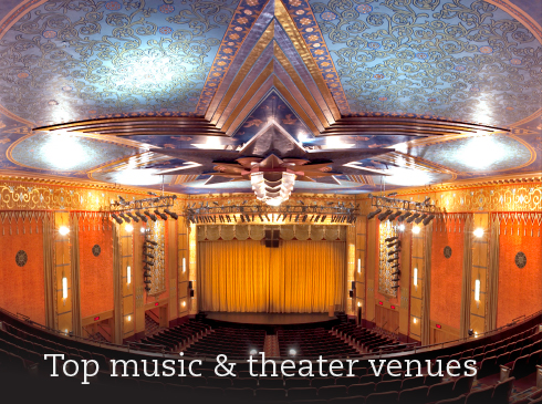 Top music & theater venues