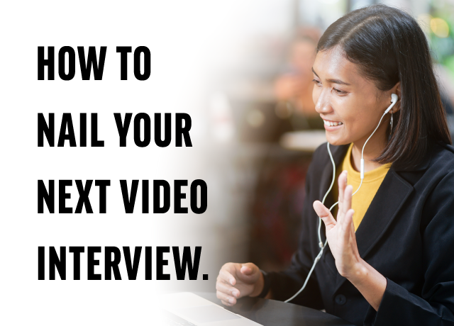 How to Nail Your Next Video Interview image
