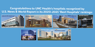 UNC Health hospitals Ranked by US News & World Report