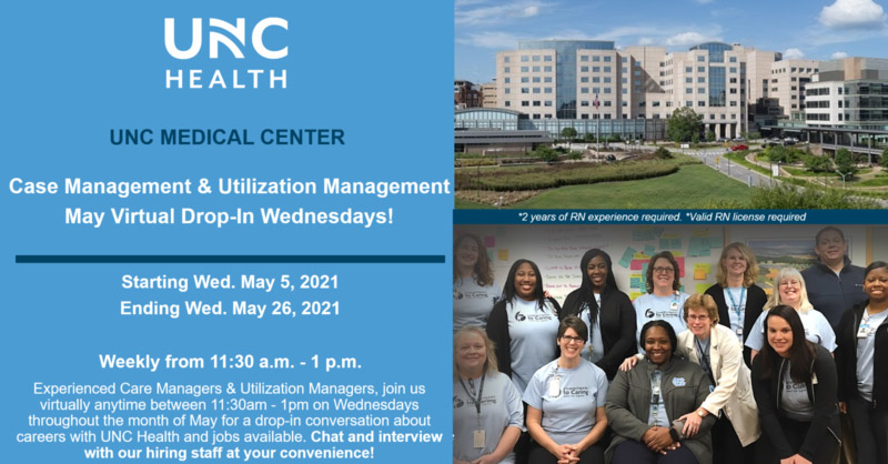 EVENT BANNER - Case Management & Utilization Management May Virtual Drop-In Wednesdays
