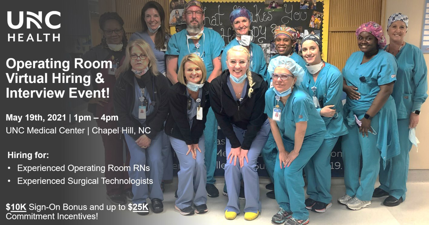 EVENT BANNER - Operating Room Virtual Hiring & Interview Event!