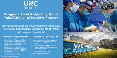Congenital Heart Program and Operating Room Incentive program