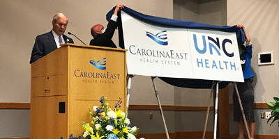 CarolinaEast Health System Signs Affiliation Agreement with UNC Health